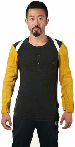 "24"" Welders Sleeve Leather, Brown with Shoulder Extension, Heat Resistant"