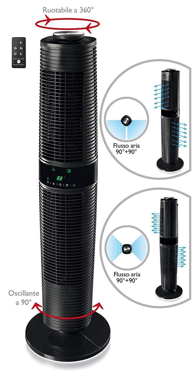 Ventilatore a torre torretta colonna con telecomando MACOM 994 oscillante timer