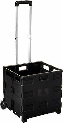 Extra Large Durable Folding Luggage Rolling Trolley Utility Shopping Cart Basket