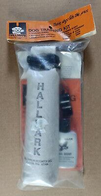 vintage NOS Hallmark Dog Training Kit QUAIL SCENT Canvas Dummy Whistle Lanyard  Dummy Training Kit