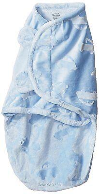 Summer Infant Boy Swaddle Me Luxe Velboa  Sky Blue