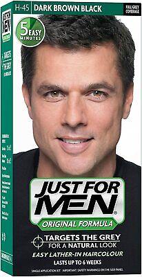 Just For Men Hair Dye Original Formula Hair Colour H45 Dark Brown Black