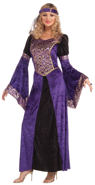 Mujer Sexy Morado Renacimiento Medieval Tudor Reina Disfraz | eBay