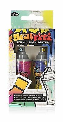 Npw Usa Graffiti Spray Can Pen Highlighter Set Novelty Office School Supplies