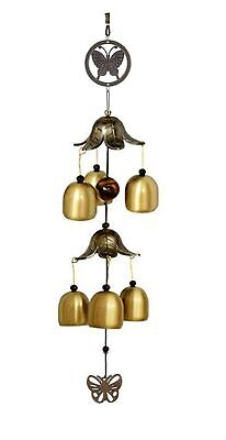 Hanging Long Brass Bells Gifts For Loved Ones Of 6 Bells For Home,Garden -F Ship