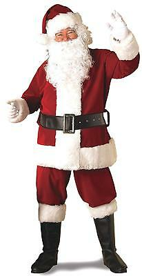 Rubie's Deluxe Ultra Velvet Santa Suit, Red/White, XX-Large