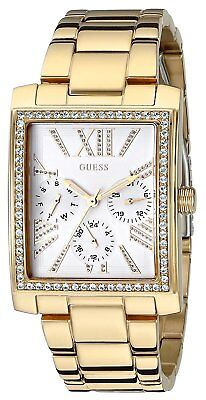 Guess Women's Gold-Tone w/ Dazzling Crystal Sparkle Watch -