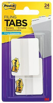 Post-it Durable Tabs 2 Wide Solid White 24 Tabspack 686-24we 867132