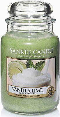 YANKEE CANDLE - Candela Profumata Vanilla Lime in Giara Grande da 623 gr
