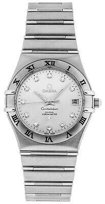 New Omega Constellation Diamonds Steel Men's Watch 111.10.36.20.52.001