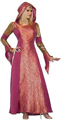 Ladies Long Hooded Medieval Arabian Queen Halloween Fancy Dress Costume Outfit (Arabian Outfits Ladies)