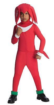 Knuckles Echidna Red Sonic Hedgehog Sega Fancy Dress Halloween Child Costume](Sonic Kids Costume)
