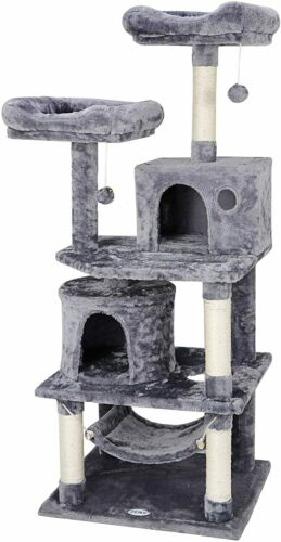 """57"""" Cat Tree Condo Pet Furniture Activity Tower Play House w"""