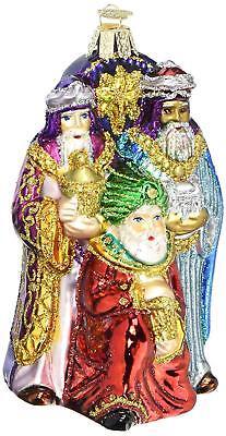Three Kings Three Wisemen - Three Wisemen Nativity Kings Glass Old World Christmas Ornament 24083 FREE BOX