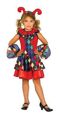 Rubies Girls Jester Joker Dress Medieval Child Size Halloween Costume MEDIUM NEW - Joker Girls Costume