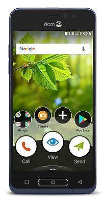BRAND NEW DORO 8035 16GB 4G MOBILE PHONE - BLACK - UNLOCKED