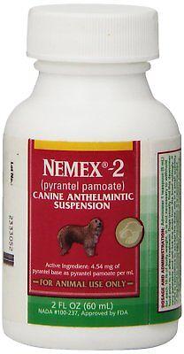 Nemex-2 Canine Pyrantel Pamoate Oral suspension Liquid Dog Wormer 60ml
