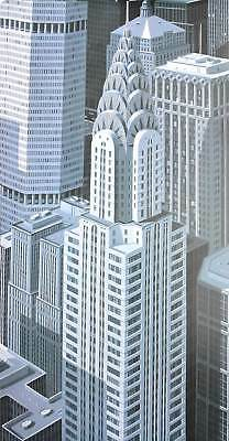 Eric Peyret Blue Chrysler composition Poster Kunstdruck Bild 70x70cm