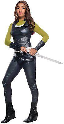 Gamora Guardians Galaxy 2 Marvel Fancy Dress Halloween Deluxe Adult (Gamora Marvel Kostüm)