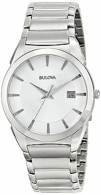 Bulova Men's 96B015 Stainless Steel Bracelet Date Dress Watch
