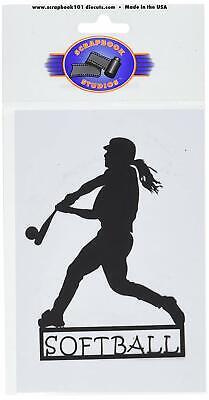 SCRAPBOOK 101 Shape Cardstock Die Cuts, Softball Girl Cardstock Laser Die Cuts