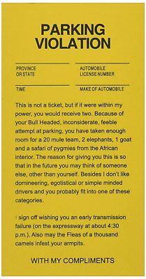 Parking Tickets Fake Joke Gag Car Driving 25 Tickets per Bag Funny Prank (Cars Halloween Bag)