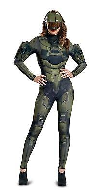 Master Chief Female Jumpsuit Halo Military Fancy Dress Halloween Adult Costume