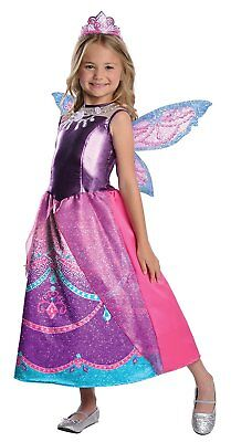Catania Barbie Mariposa Fairy Princess Fancy Dress Up Halloween Child Costume (Dress Up Halloween Barbie)