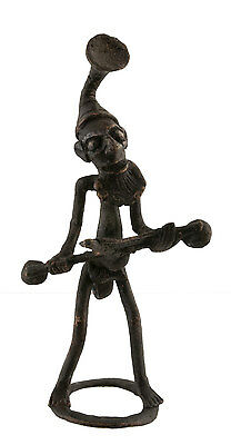 Figure, Figure African Bronze, Old-Zither-Art African-Af 1100