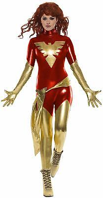 Dark Phoenix Marvel Superhero X-Men Fancy Dress Up Halloween Sexy Adult Costume - Xmen Halloween Costumes