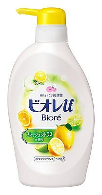 Kao Jaapan BIORE U Body Wash Liquid Soap 480ml Pump  - Fresh Citrus Scented