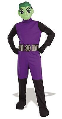 Beast Boy DC Comics Teen Titans Superhero Fancy Dress Halloween Child Costume