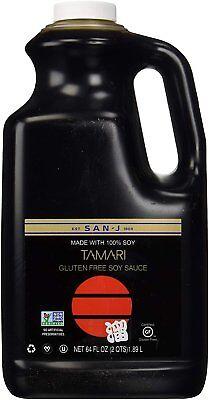 San-J Tamari Gluten Free Soy Sauce, Non GMO Black Label, 64 Ounce (Free Tamari Soy Sauce)