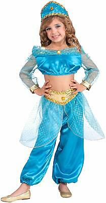 Arabian Princess Costume Jumpsuit Girls Jasmine Inspired Fancy Dress Large - Arabian Princess Costume For Girls
