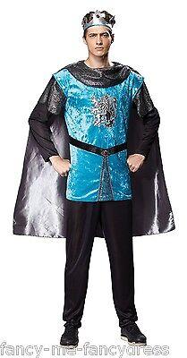 Herren Königsblau Ritter Mittelalterlicher Krieger Soldaten - Krieger König Kostüm
