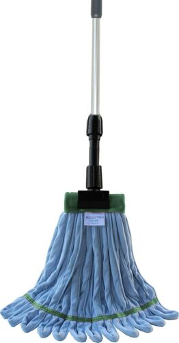 Industrial Microfiber Looped End Wet Mop Kit with Aluminum Extension Handle