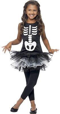 Mädchen Teen Süß Skelett Tutu Kleid Halloween Kostüm 4-12 Jahre