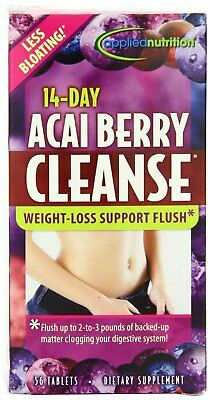 Applied Nutrition 14-Day Acai Berry Cleanse Weight-Loss Tablets 56 Ct (2 Pack) Acai Cleanse Acai Berry