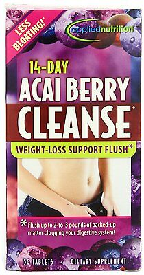 Applied Nutrition 14-day Acai Berry Cleanse Weight Loss Support 56-Count Bottle Acai Cleanse Acai Berry