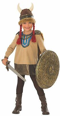 Viking Girl Medieval Warrior Woman Fancy Dress Up Halloween Child Costume - Viking Girls Costume