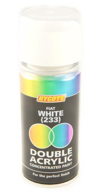 Hycote Fiat White 233 Double Acrylic Spray Paint 150Ml Aerosols