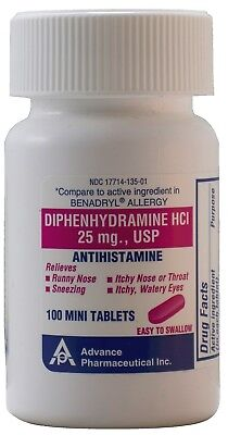 Advanced Pharmaceutical Inc. Antihistamine Diphenhydramine H