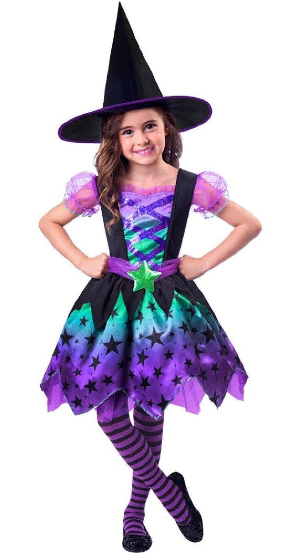 Ragazze Cutie Strega Halloween Libro Giorno Costume Vestito 2-8yrs