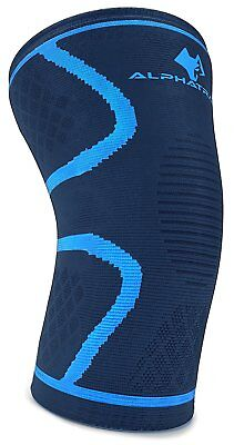 Knee Compression Sleeve - Best Knee Support Brace for Joint Pain Relief,