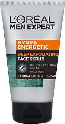 L'Oreal Men Expert Hydra Energetic Anti-Fatigue Daily Face Scrub, Wash Gel 100Ml