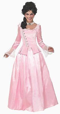 Colonial Halloween Costumes Adults (Colonial Maiden Pink Prairie Girl House Fancy Dress Up Halloween Adult)