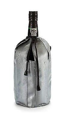 GEL FLASCHENKÜHLER mit Kordel grau Champagnerkühler Kühlmanschette Weinkühler 62