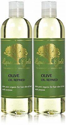 Organic Olive Oil Hair (Premium Liquid Gold Olive Oil Refined 100% Pure Organic Cold Pressed Skin Hair  )