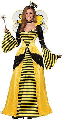Damen Queen Bee Lang Voll Länge Tier Insekten - Queen Bee Kostüm