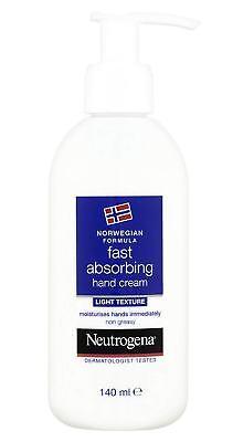 Norwegian Formula Neutrogena Fast Absorbing HAND CREAM (Light Texture) 140ml